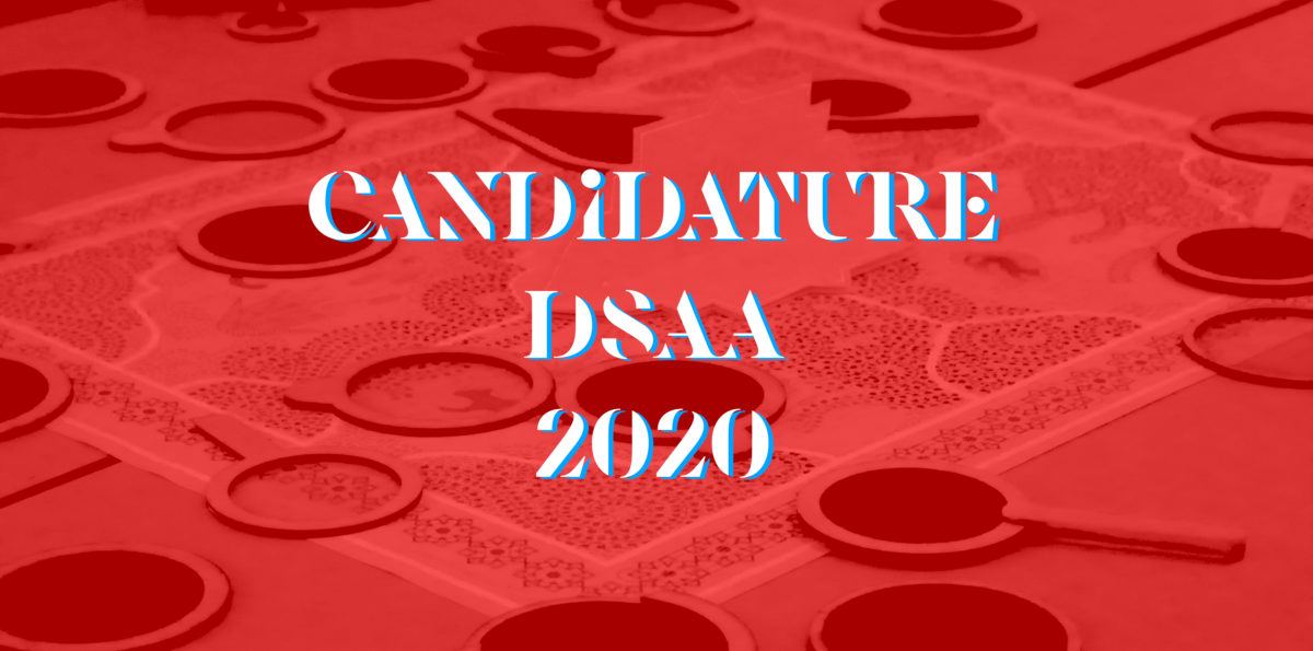 Candidatures DSAA Design écoresponsable 2020