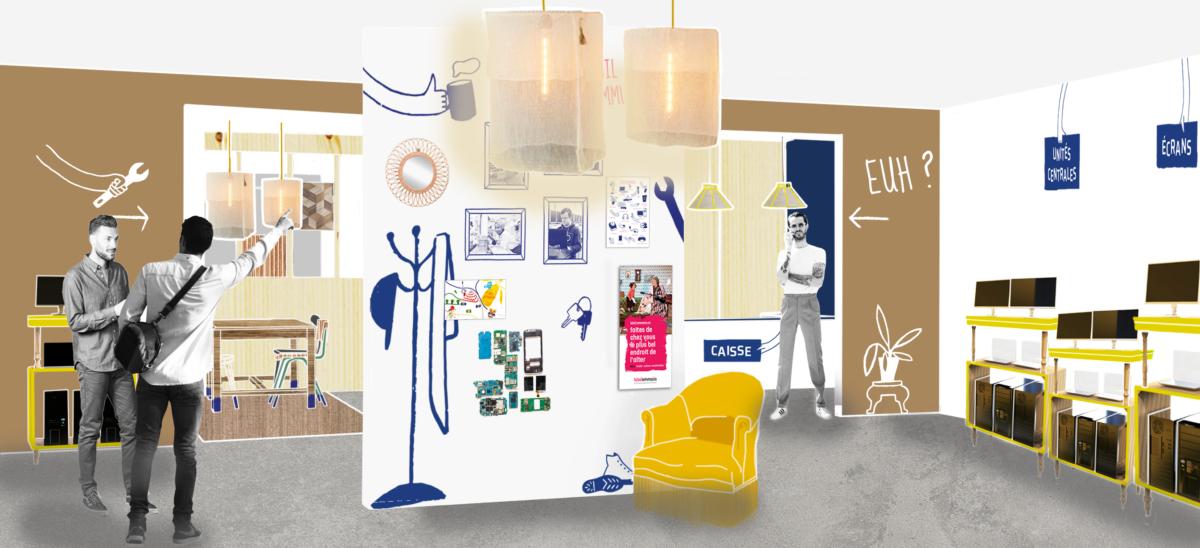 Design global pour les boutiques des Ateliers du Bocage